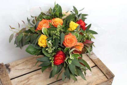 rose des sables bouquet orange